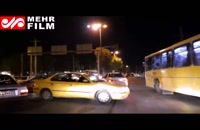 وضعیت ترافیک در شهر مهران طی شب