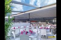 حقانی 099380039391-سقف جمع شونده تراس رستوران-فروش سقف برقی روفگاردن