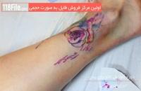 تتو گل رز روی بدن