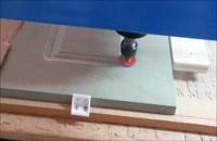 حکاکی وساخت درب چوبی با دستگاه cnc تخت