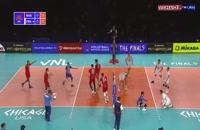 خلاصه والیبال روسیه 3 - فرانسه 0 (لیگ والیبال ملتها)