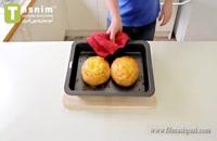 نان پنیری | فیلم آشپزی