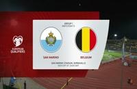 فول مچ بازی سن مارینو - بلژیک؛ (نیمه اول) پلی آف یورو 2020