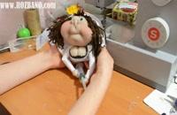 آموزش تصویری ساخت عروسک پرستار پاپیک (عروسک جورابی)
